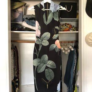 Ted Baker garden print evening dress, UK size 0